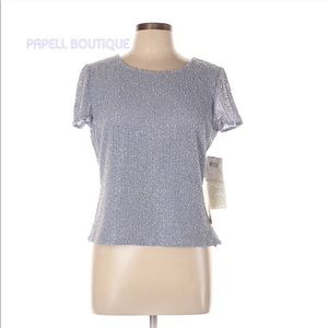 Papell Boutique Evening Beaded Top NEW!